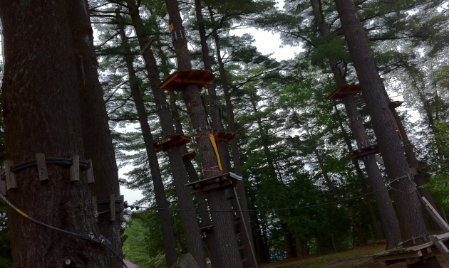 Treetop canopying at Eaglecrest Aerial Park