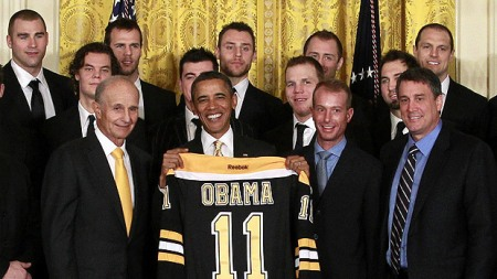 Boston Bruins visit President Obama