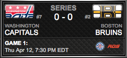 Washington Capitals vs. Boston Bruins via NHL