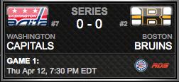 Washington Capitals vs. Boston Bruins via NHL