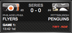 Philadelphia Flyers vs. Pittsburgh Penguins via NHL