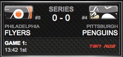 Philadelphia Flyers vs. Pittsburgh Penguins via NHL