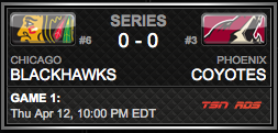 Chicago Blackhawks vs. Phoenix Coyotes via NHL