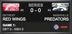 Detroit Red Wings vs. Nashville Predators via NHL
