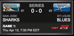 San Jose Sharks vs. St. Louis Blues via NHL