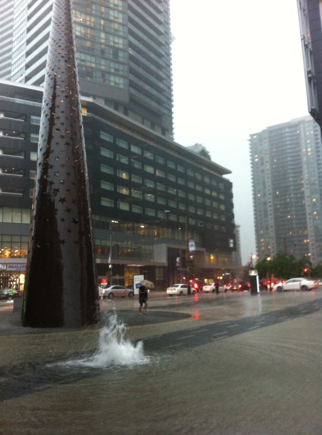Maple Leaf Square flooded